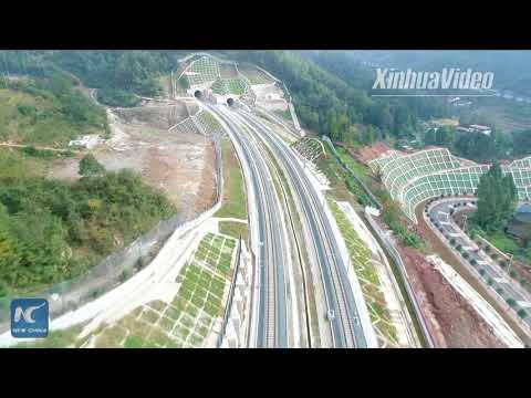 New high-speed railway runs through Qinling Mountains in W China
