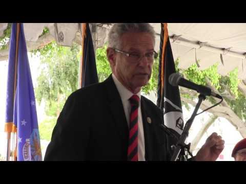 Rep. Lowenthal praises VA hospital vet & volunteer, Tibor Rubin, whom he got VA Hosp renamed after