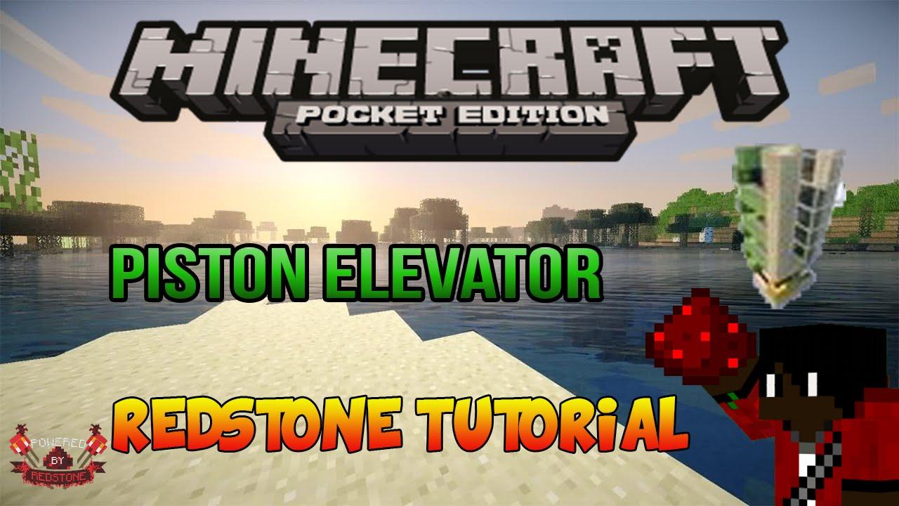Minecraft Pe Piston Elevator 4x5 Redstone Tutorial