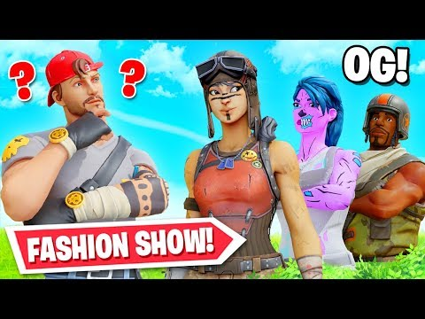 Og Skin Fortnite Fashion Show! Winner = Vbucks