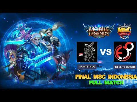 FINAL Match 3 SAINTS INDO vs E8 ELITE ESPORT + Caster - Mobile Legends MSC Indonesia Tournament