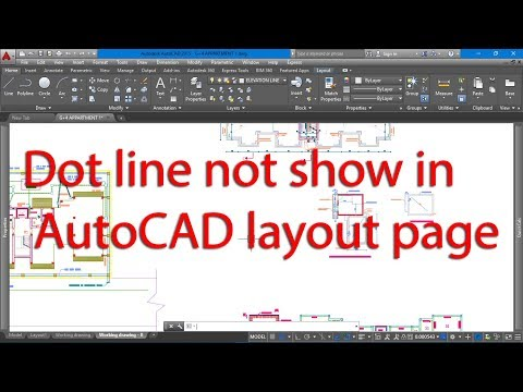 Dot Line Not Show In AutoCAD Layout Page
