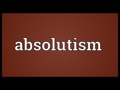 Header of absolutism