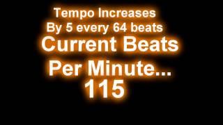 Increasing Tempo Metronome/Drum Loop 80-180 bpm (4 beats/measure)