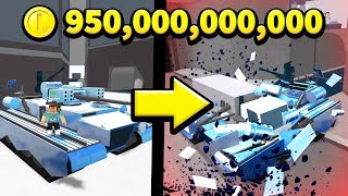 Destroying the MOST EXPENSIVE CAR in Roblox Car Crushers 2