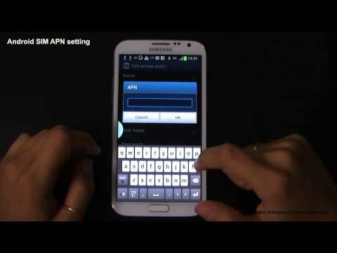 GAC 03 Andoroid SIM APN setteing