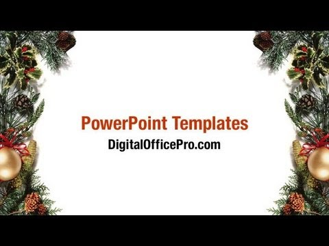 christmas frame powerpoint template backgrounds digitalofficepro