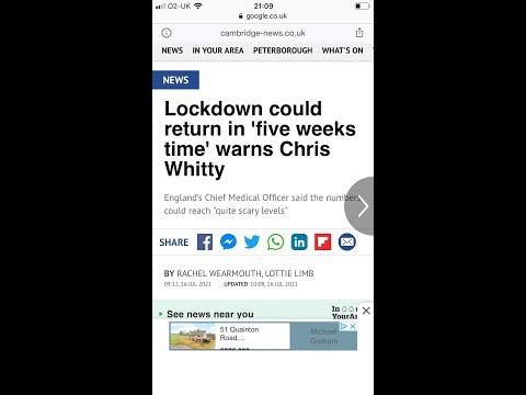 Lockdown could return in 5 weeks time warns UK professor Chris Whitty