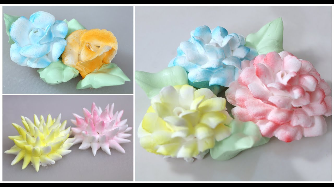 Cake Decoration Flowers Recipe : Fresh Cream Icing Flowers - How To Make Easy Frosting ...