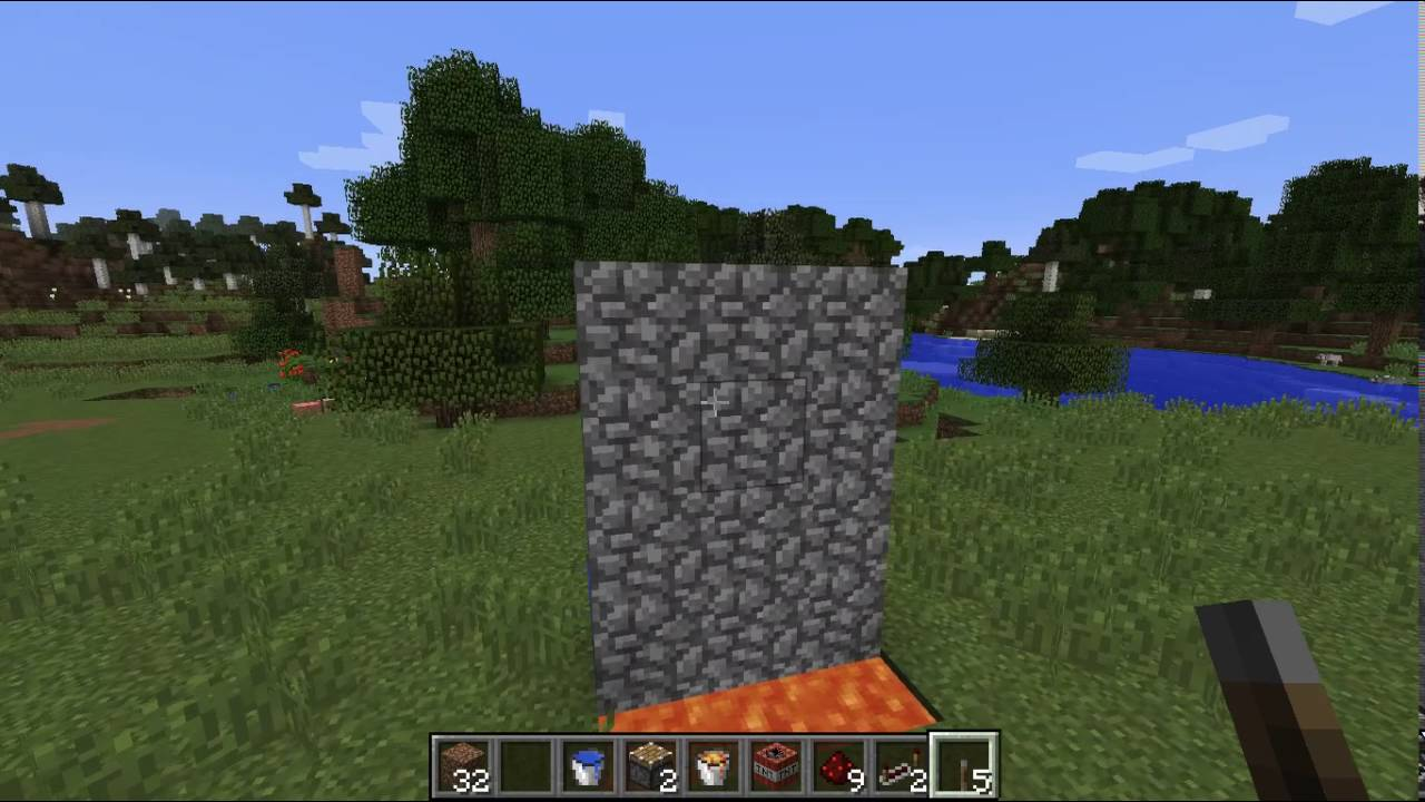 Regenerating Cobblestone Wall  Minecraft Tutorial