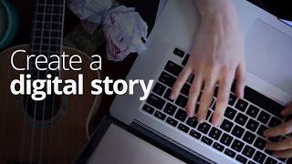 إنشاء القصة الرقمية