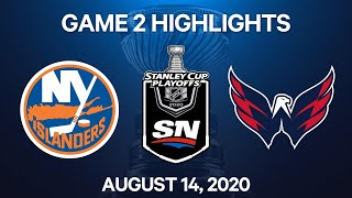 NHL Highlights | 1st Round, Game 2: Islanders vs. Capitals – Aug. 14, 2020