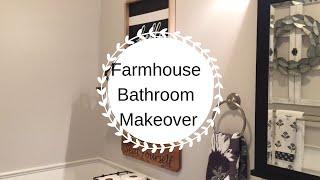 FARMHOUSE BATHROOM MAKEOVER | DECORATE WITH ME | MODERN/INDUSTRIAL FARMHOUSE BATHROOM DECOR