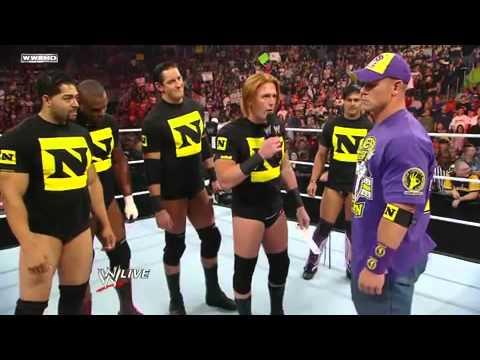 Wwe Nexus Vs John Cena Team John Cena joins the Ne...