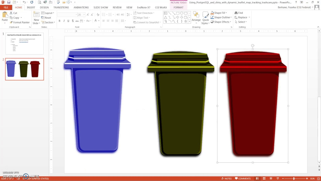 Using PostgreSQL and shiny with a dynamic leaflet map: monitoring trash cans
