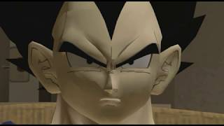 Vegeta channel surfing during New Year's Day while Cell invites himself over to play retro games