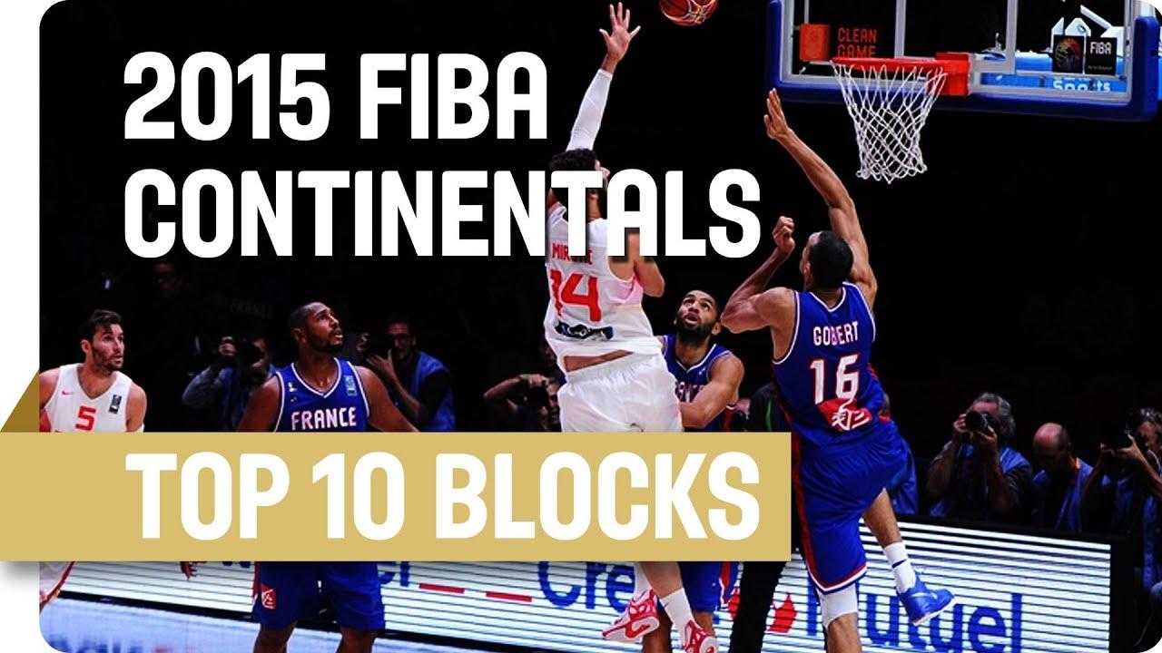 Top 10 Blocks w/ Gobert, Bogut, Norwood and more! - 2015 FIBA Continental Championships