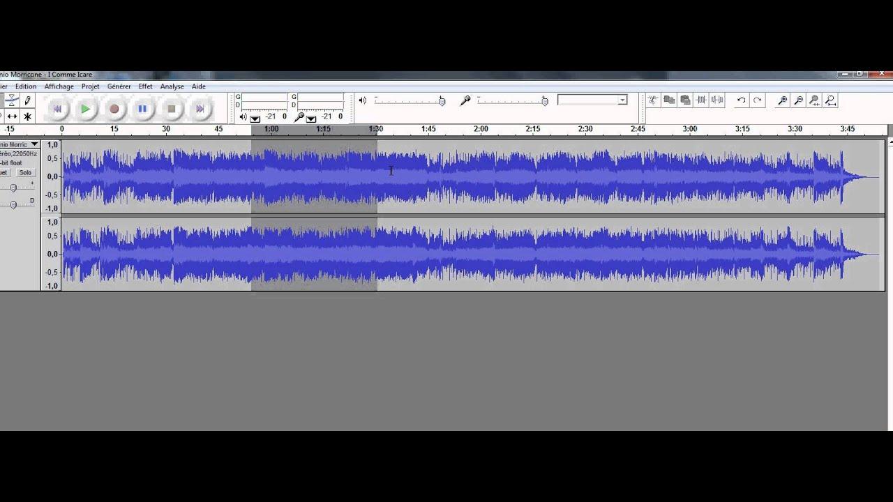 Tuto audacity en 3 clic couper un morceau de musique - Couper un morceau de musique en ligne ...