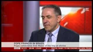 Jack Valero on Pope Francis in Brazil for the World Youth Day: BBC News