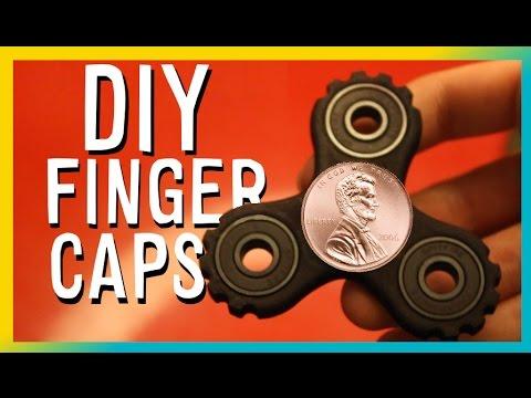 DIY Cheap Fidget Toy Finger Caps 🔼 PENNY Pad Hand Spinner Tutorial