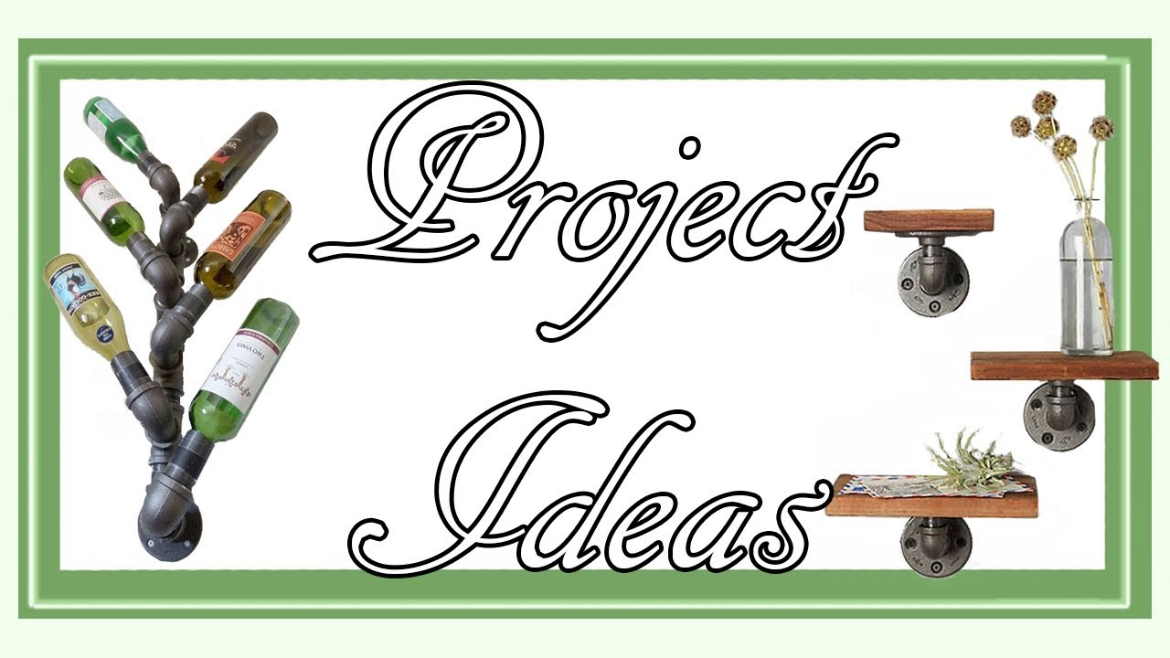 DIY iron pipe project ideas for home improvement - YouTube