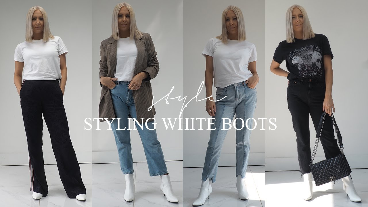 white boots style