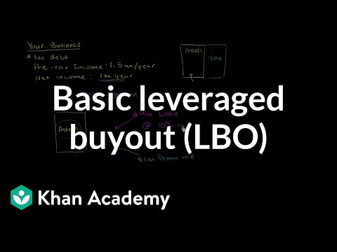 Basic leveraged buyout (LBO) | Stocks and bonds | Finance & Capital Markets | Khan Academy