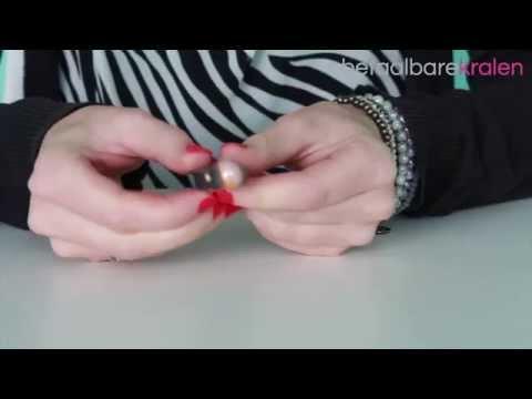 Sieraden maken: Hoe maak je een ring met leer, DQ metalen pin en een kraal? ♡ DIY