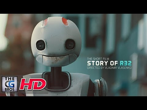 """CGI VFX Shorts HD: """"Story of R32"""" - by A robot on a spotless journey encounters a new friend."""
