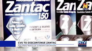 CVS TO DISCONTINUE ZANTAC