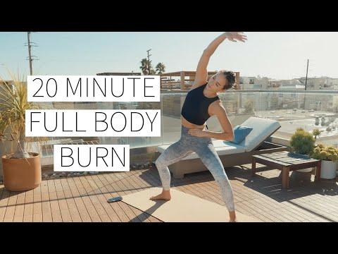 20 MINUTE FULL BODY BURN - No equipment, w/ modifications & proper form cues! | Dr. LA Thoma Gustin