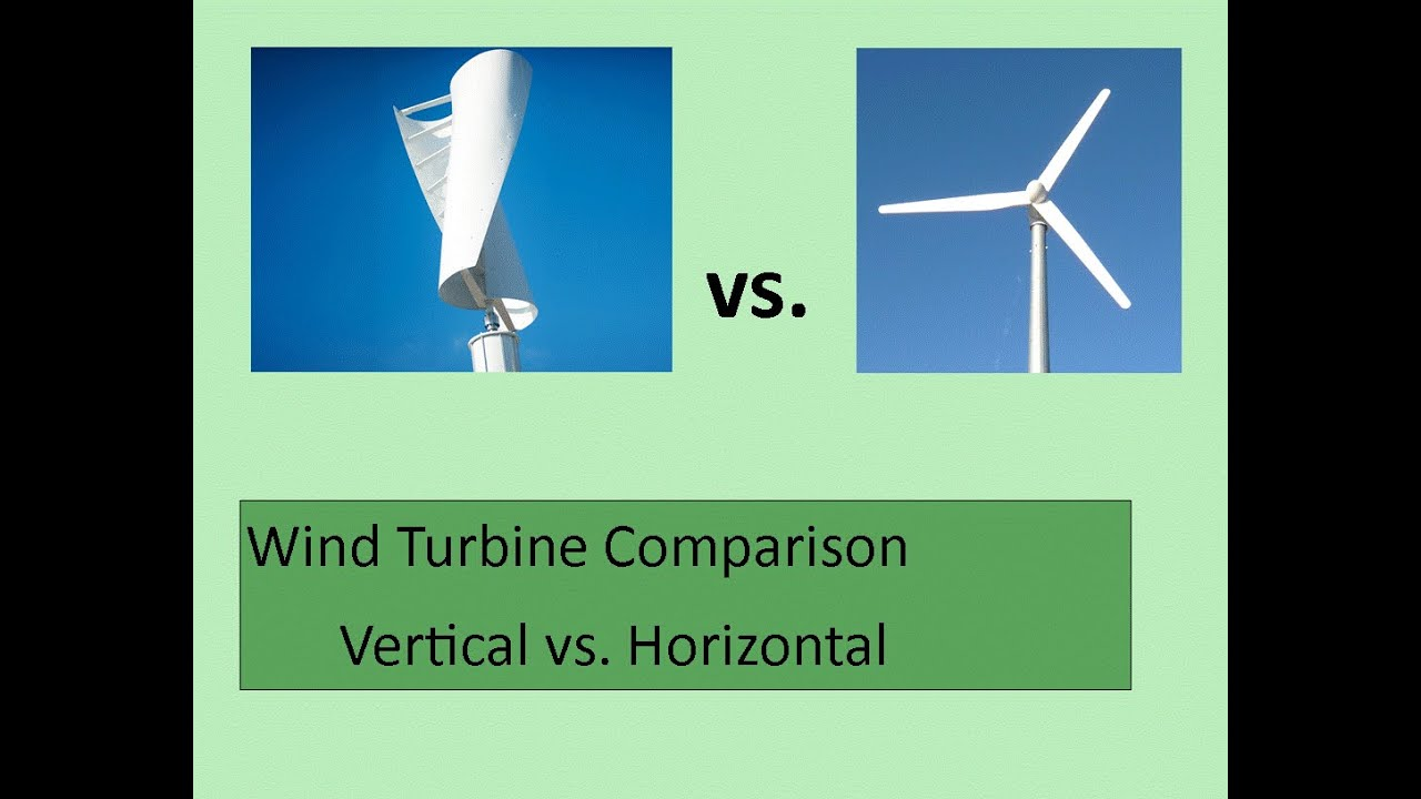Wind Turbine Comparison Vertical Vs Horizontal Youtube