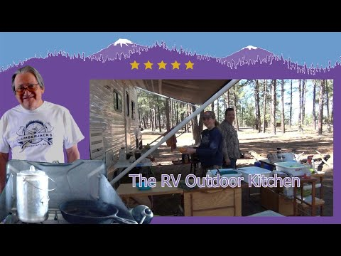 Outdoor RV Camp Kitchen