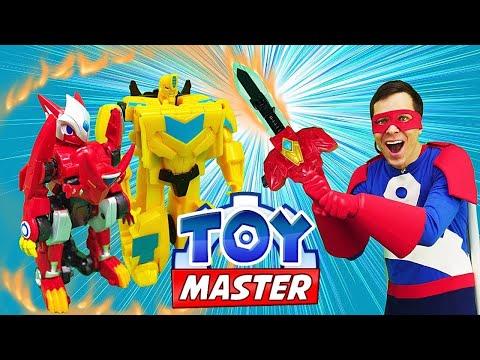 Игры для мальчиков Монкарт спасают базу Трансформеров! - Видео шоу Той Мастер.