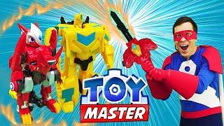 Роботы Трансформеры  - Той Мастер и Монкарт защищают базу!