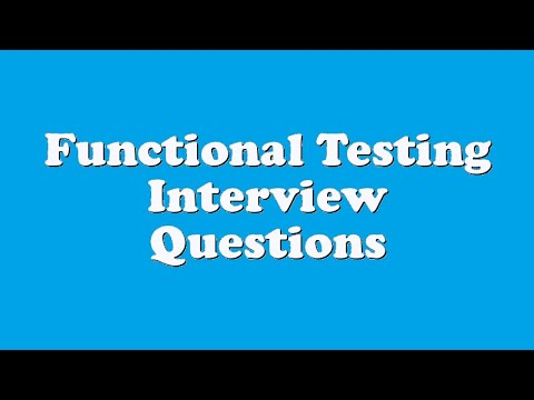 Functional Testing Interview Questions