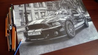 FORD MUSTANG SHELBY GT500 DRAWING ISP 2015