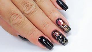 Halloween nails art Tutorial / My Love Hybrydowe