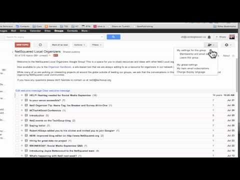 Putting your Google Group Email into Digest Mode
