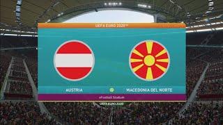 Austria Vs Macedonia del Norte Euro 2020