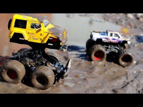 видео: Машинки в грязи. Мойка машин. Монстер траки. Игрушечные машинки
