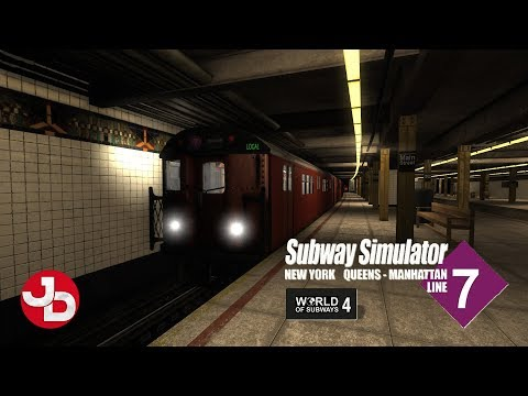 World Of Subways 4 - New York Subway Line 7 | First Run Highlights