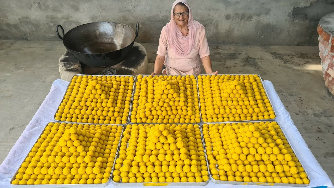 VILLAGE STYLE LADOO RECIPE   INDIAN SWEETS