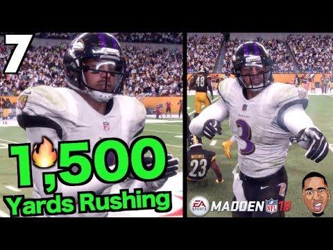 Rushing For 1,500 Yards!! Madden 18 Career Mode #7