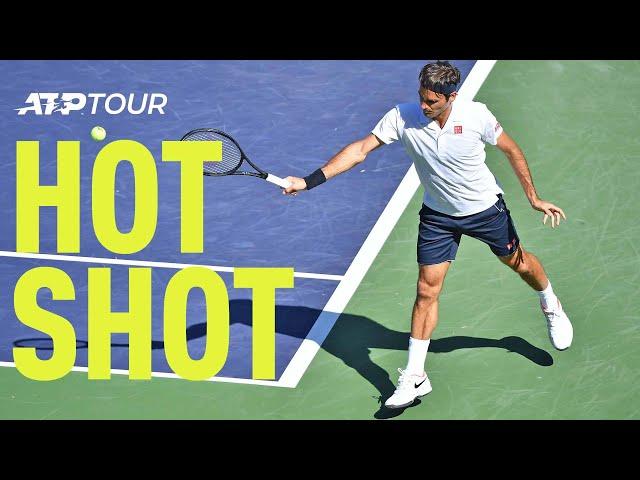 Hot Shot: Federer Breaks Thiem With A Stunner In Indian Wells 2019 Final