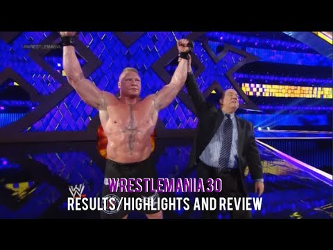 WWE Wrestlemania 30 Full Show Results/Highlights & Review, B
