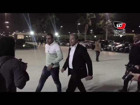 لحظة وصول «مجلس الخطيب» مباراة الأهلي وإنبي في ستاد القاهرة