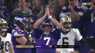 Amazing Moment After Vikings Walk-Off TD As Case Keenum Leads 'SKOL' Chant With Entire Stadium