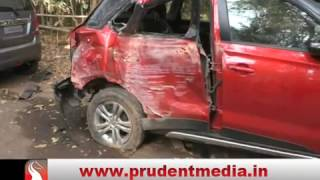 ACCIDENT AT PONDA; STRANGE TALE OF DRIVER │Prudent Media Goa