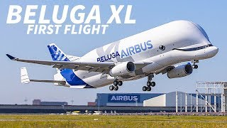 The first Beluga XL took to the skies for the very first time today...